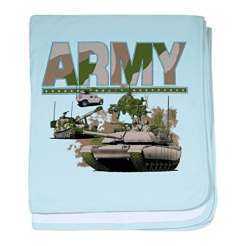 Hummer Blanket (Royal Lion Baby Blanket US Army Hummer Soldiers Tanks - Sky Blue)