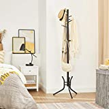 SONGMICS Coat Rack, Metal Coat Stand with 11