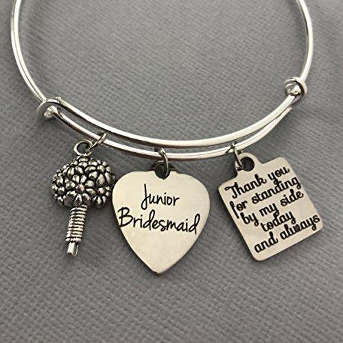 Junior Bridesmaid Jewelry Adjustable Bridal Party Bracelet]()