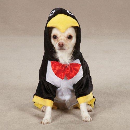 Zack & Zoey Penguin Pup Costume, Black, Large