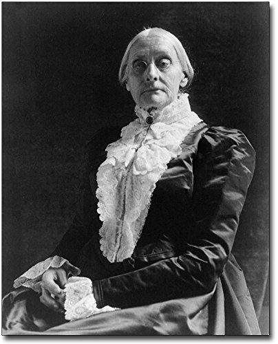 Activist Susan B. Anthony Portrait 11x14 Silver Halide Photo Print by The McMahan Photo Art Gallery & Archive