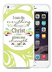 iPhone 6 Plus 5.5 inch Bible Verse White TPU Screen Cellphone Case Newest and Genuine Design