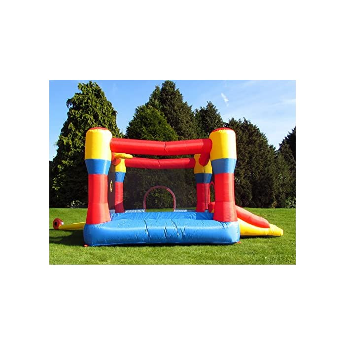 51TpMfQrvgL Con una gran zona cerrada y un gran tobogán inflable Marca premium de castillos inflables para niños, con doble costura de alta calidad La instalación es rápida, en unos 3 minutos