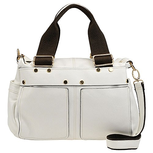 Twins White Twins Satchel Handle Double Handle Satchel White Double Double Twins 5rtwP5q