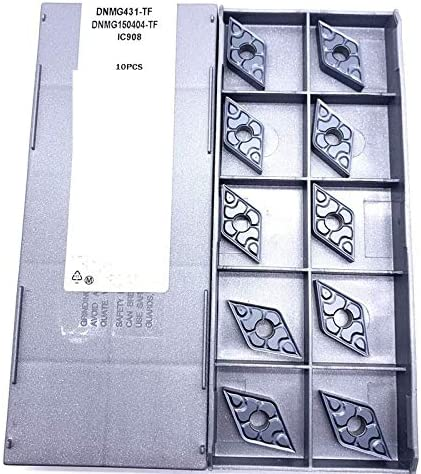 WITHOUT BRAND 10pcs DNMG150404-TF IC907 / DNMG150408-TF IC907 CNC Karbid-Einsätze Drehen (Größe : DNMG150404 TF IC907)