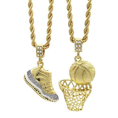(Mens Gold Plated Hip Hop Retro 11
