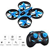 Mini Drone, Balahibo H36 RC Drone 2.4GHz 4CH 6-Axis Gyro Headless Mode One Key Return Beginners & Kids (Blue)