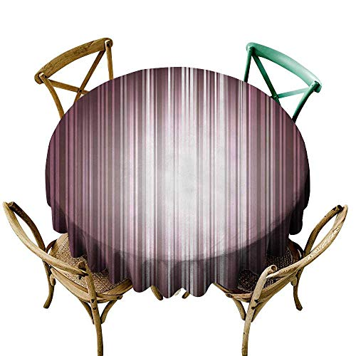 (Jbgzzm Fabric Dust-Proof Table Cover Digital Futuristic Computer Art Stripe Flashlight Rays Unusual Futuristic Illustration Table Decoration D47 Plum Mauve Silver)