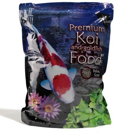 Growth Fish Food - Blackwater Creek Max Growth Koi Fish Food - 5 lbs. (Small Pellet) with Exclusive BONUS Max Ponds Calendar Magnet