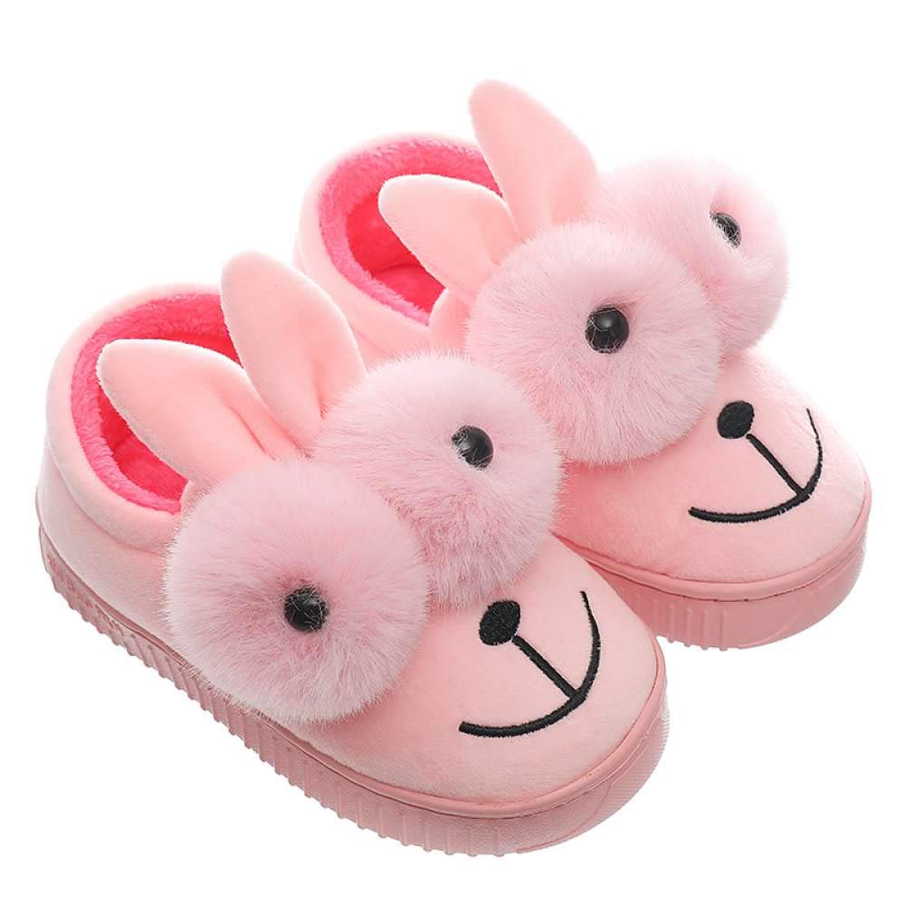 Girls Bootie Slippers Cute Bunny Winter Warm Kids Indoor Outdoor Fuzzy Shoes by Mtzyoa (Image #1)
