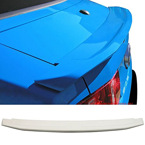 Pre-painted Trunk Spoiler Fits 2010-2014 FORD MUSTANG 2DR | Factory Style ABS Painted #HP Hi Performance White Rear Deck Lip Wing Bodykits by IKON MOTORSPORTS | 2011 2012 2013 ()