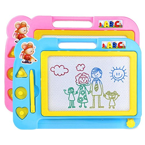 samber-colorful-magnetic-drawing-board-erasable-writing-sketching-pad-plastic-cartoon-learning-paint