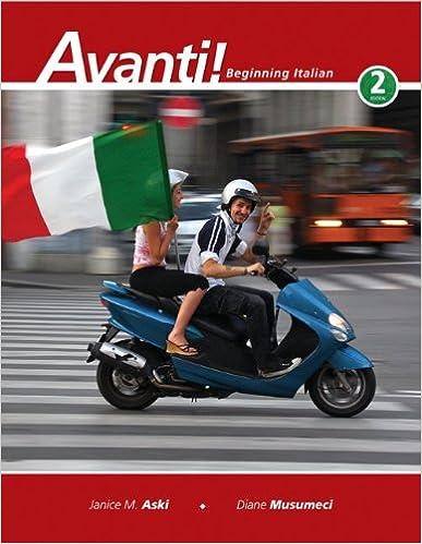 Amazoncom Avanti Beginning Italian 2nd Edition 9780073386249