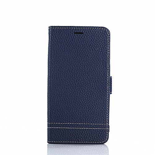 TOTOOSE Flip Wallet Case for Huawei Honor 6X Case slim Shock Protection with Card Slots Lightweight Women and Adjustable Stand Blue
