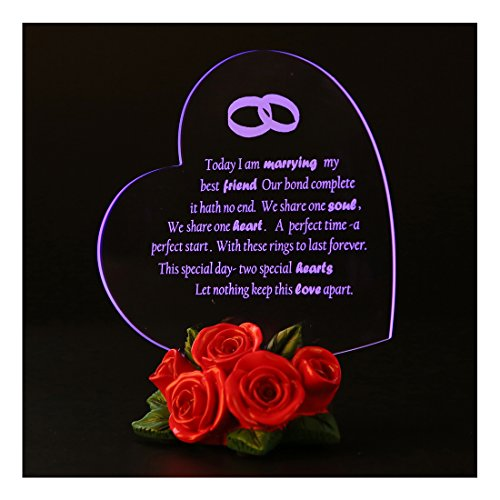 Giftgarden Heart Decor Wedding gift Cake Topper with LED Light