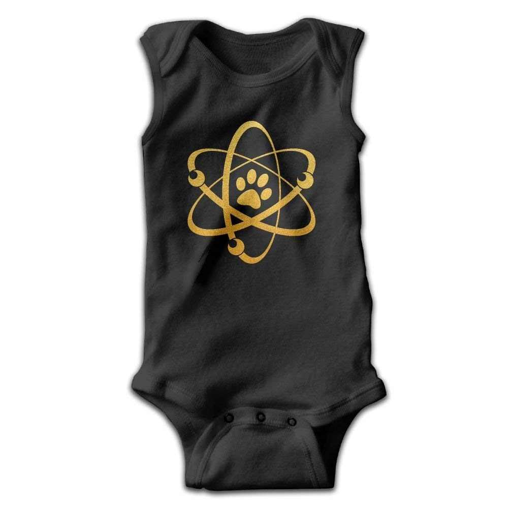 Infant Gold Atom PAW Curious Dog Science and Dog Onesies Jumpsuit