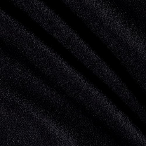 Lavitex French Terry Fabric, Black, Fabric by the yard