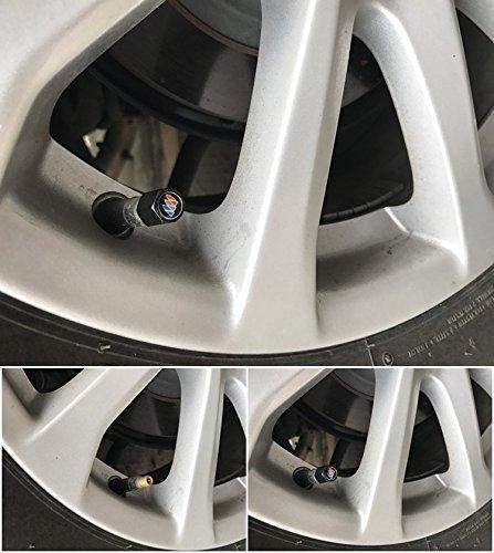 4pcs Keychain fit Infiniti Auto Sport Universal Steel Car Tire Valve Stem Air Caps Cover + 1pc