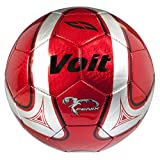 Voit Size 5 Fenix Deflated Soccer Ball, Red and Silver