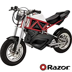 The Razor Rsf650 is powered by a powerful 650 watt high-torque, chain-driven Motor on a steel trellis-frame chassis design featuring street geometry with low profile windscreen. At speeds up to 17 mph (27 km/H) with up to 50 minutes of contin...