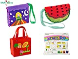 Sewing Kit for Kids Beginners 3 Pack Girls Sewing Project Pattern Bag Handbag by MeMo Toys (Set 2)