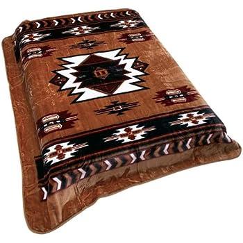Southwest Native American Print Soft Blanket