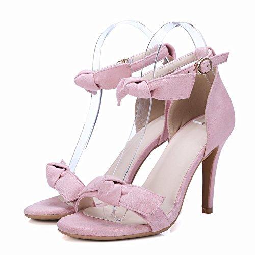Grace Sandali Rosa Tacco Donna Alto Bow Carolbar Stiletto Charm Cw5TOxRq