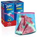 104 Count Ziploc Slider Stand-and-Fill Storage Bags