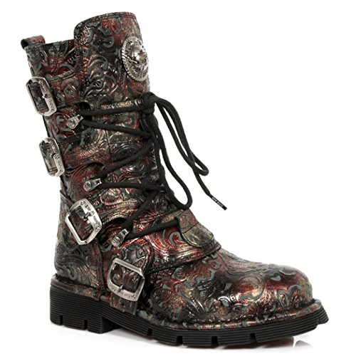 NEWROCK NR M.1473 S42 Red & Black - New Rock Boots - Unisex 6j1C6phY