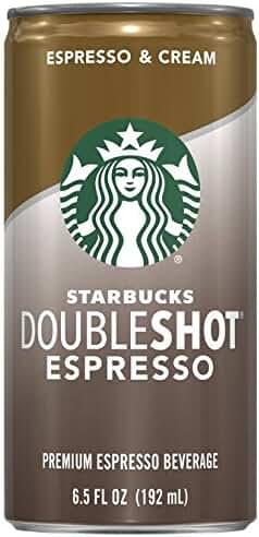 Starbucks Doubleshot, Espresso + Cream, 6.5 Ounce, 12 Pack