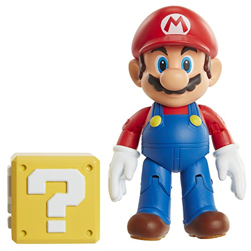 World of Nintendo Mario with Coin Box Action Figure, 4