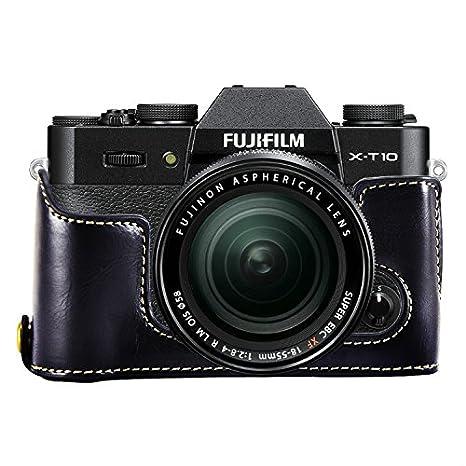 First2savvv XJPT-XT10-D01 Gehäusehälfte präzise Passform PU-Leder Kameratasche Fall Tasche Cover für Fuji Fujifilm X-T10 XT10