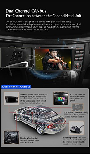 XTRONS Android 6.0 Octa-Core 64Bit 7 Inch Capacitive Touch Screen Car Stereo Radio DVD Player GPS CANbus Screen Mirroring Function OBD2 Tire Pressure Monitoring for Mercedes-Benz E-Class W211 by XTRONS (Image #7)