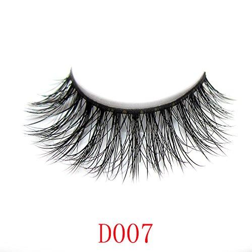 Apply False Eyelashes (44 Model LUXURY 3D Mink Natural False Eyelashes Extensions 100% Hand Made 1Pair)