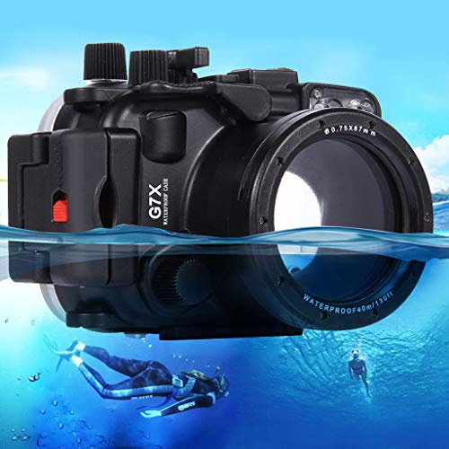 Uplord 40m Underwater Swimming Diving Waterproof Camera Case Diving Protective Housing Shell for Canon G7 X,Diving Shell+O Seal+Cleaning Cloth+Hand Strap+Neck ()