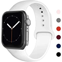 Ontube Bands Compatible with iWatch,Soft Silicone Adjustable Sport Replacement Straps for iWatch Series SE/6/5/4/3/2/1…