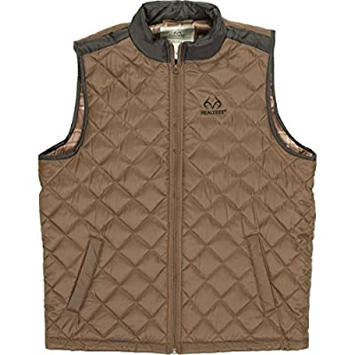 New Realtree Mens Quilted Water Resistant Outerwear Vest hot sale