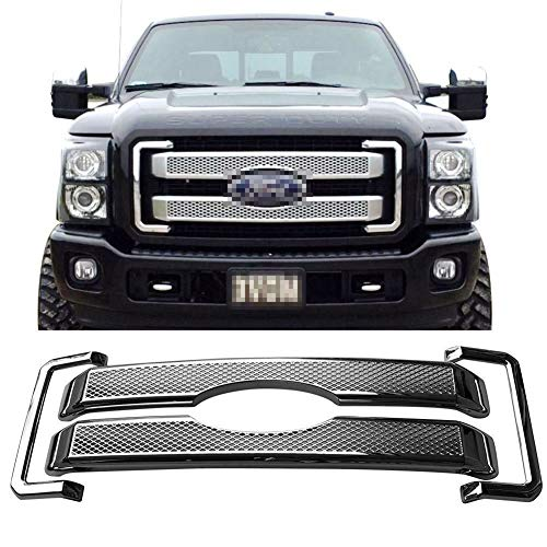 BBQ Diamond Mesh Cover Cover for Ford F-250ABS Plastic Chrome-Grating-Grille