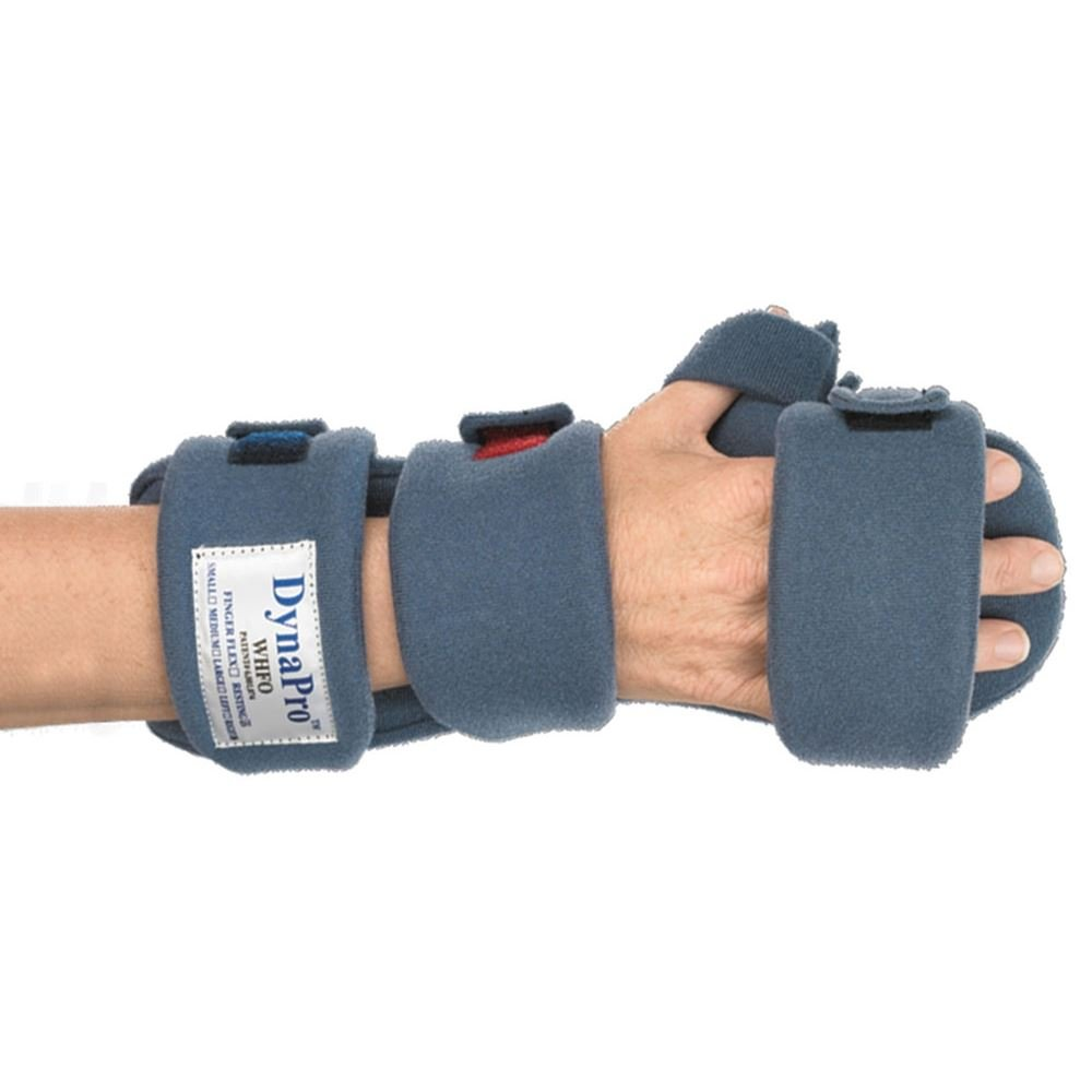 DynaPro Orthotics - Finger Flex Splints, Left, Adult Large, Total Length 8'' - 9.5'', MCPWidth 3.5'' - 4'' by DYNAPRO