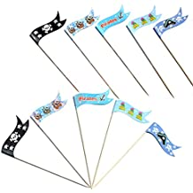 Aspire Toothpick Flags, Cupcake Topper Picks, Cocktail Picks, Various Colors - Pirate