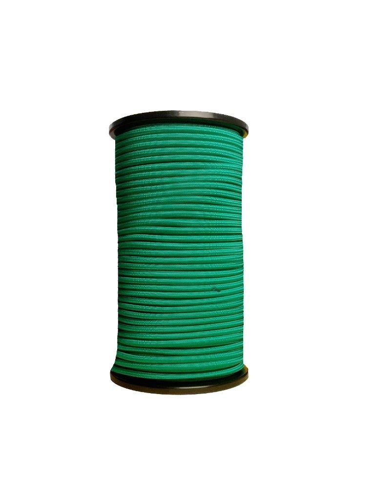 100m Expanderseil ø 6mm grün 100 Spiralhaken Klemmen
