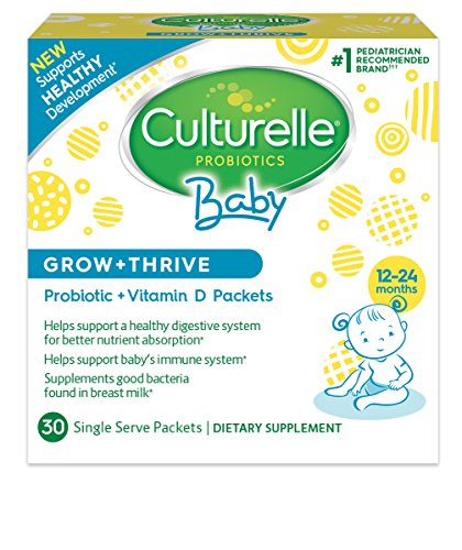 Culturelle Baby Probiotic + Vitamin D Grow & Thrive Packets 30 count, Infant Probiotics Supplement. Supports Health Development