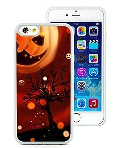 iPhone 6 4.7 inch Cool Pumpkin Halloween 1 White TPU Phone Case Genuine and Handmade Design