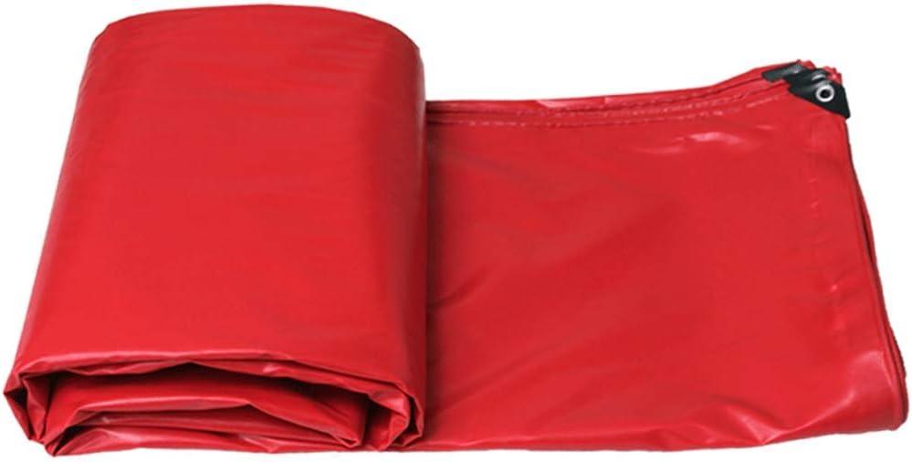 防水布防水日焼け止め用防水シート屋外用防水シートトラック天幕布 (Color : 赤, Size : 6m*5m) 赤 6m*5m