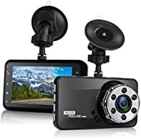 "Dash Cam Lstiaq 1080P FHD DVR Car Driving Recorder 3"" LCD Screen 170°Wide Angle, Built-in Night Vision, G-Sensor, WDR..."