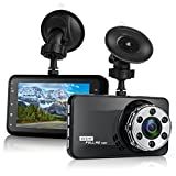Dash Cam, Bekhic Dash Camera for Cars with Full HD 1080P 170 Degree Super Wide Angle Cameras, 3.0″ TFT Display, G-Sensor, Night Vision, WDR, Loop Recording