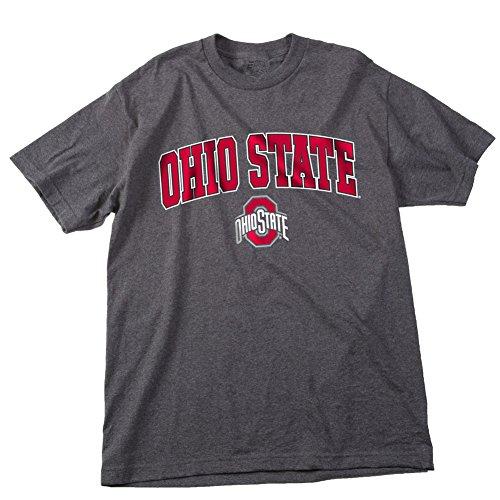 - Elite Fan Shop NCAA Men's Ohio State Buckeyes T Shirt Dark Heather Arch Ohio State Buckeyes Dark Heather X Large
