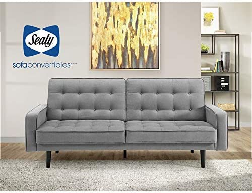 Amazon.com: Sealy Sofa Convertibles Trieste Splitback ...