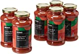Amazon Brand - 24 oz Solimo Pasta Sauce, Tomato Basil (Pack of 6)