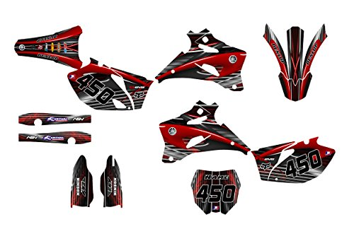 Yamaha YZ250F YZ450F 2008-2009 Dirt Bike Graphics Decal Kit by Allmotorgraphics NO3333 (Yamaha Decal Kits)